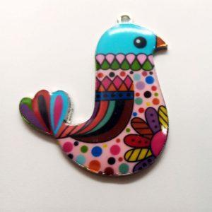 Extra függő állatok színes mintás madár
