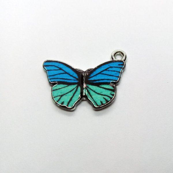 Extra függő állat pillangó türkiz charm