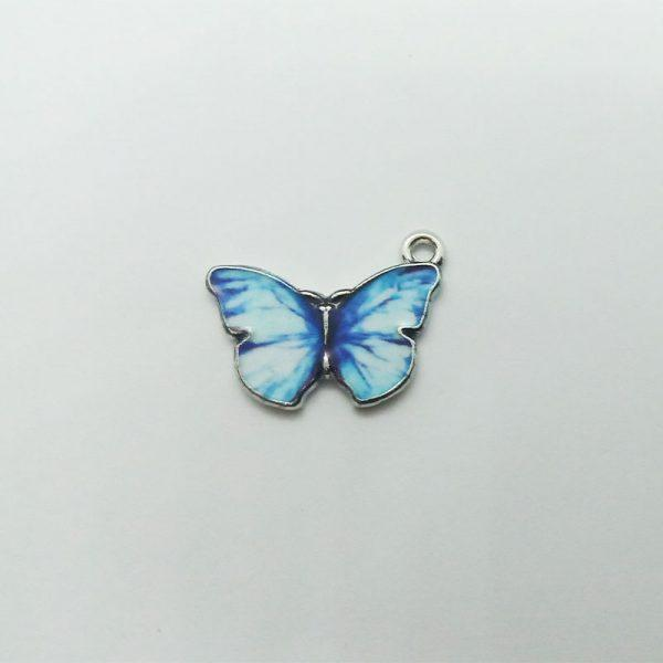 Extra függő állat világoskék pillangó charm