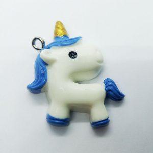 Extra függő állat unikornis egyszarvú kék charm