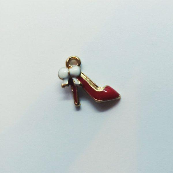 Extra függő charm fityegő női cipő magassarkú piros