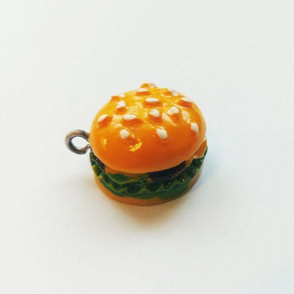 Extra függő étel hamburger charm