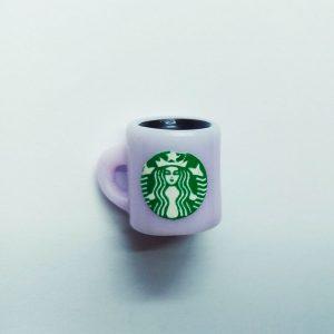 Extra függő ital kávé Starbucks lila bögre charm