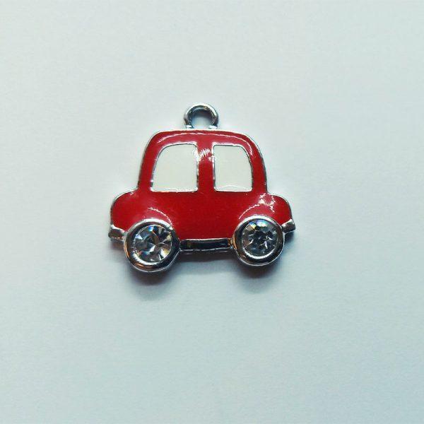 közlekedés fityegő Extra függő jármű kocsi autó piros strasszos charm