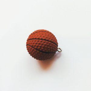 Extra függő kosárlabda 3 D-s charm sport fityegő
