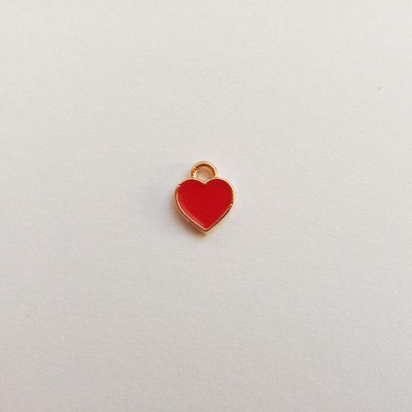 Extra függő charm fityegő pici piros szív