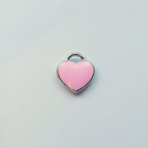 Extra függő szív rózsaszín charm fityegő