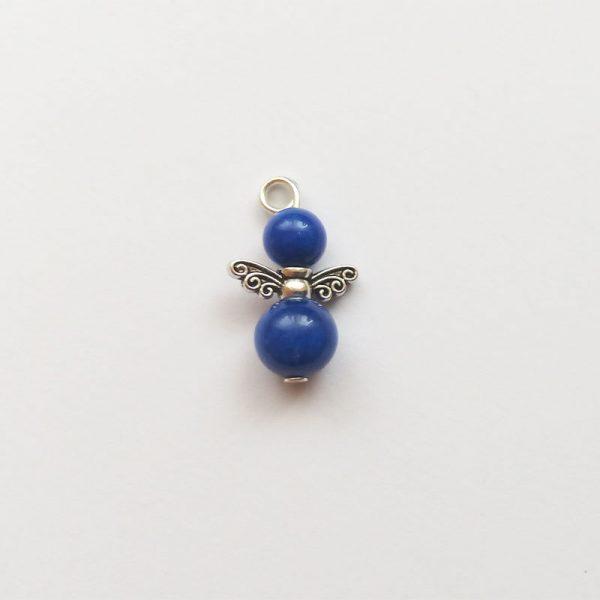 Extra függő ásvány angyal fityegő kék jáde charm