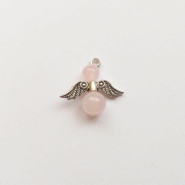 Extra függő ásvány angyal fityegő rózsakvarc