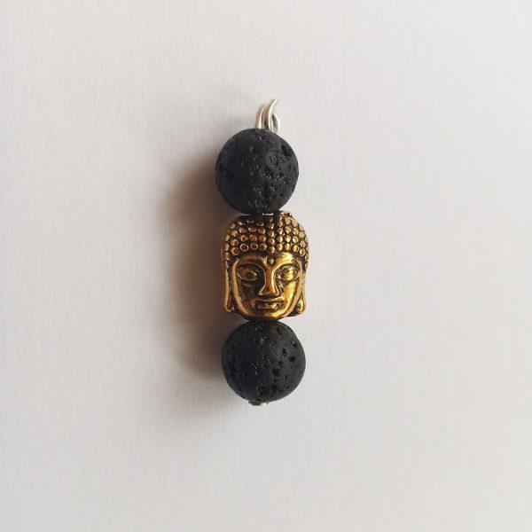 Buddha arany fém charm függő fityegő ásványok spirituális jóga meditáció