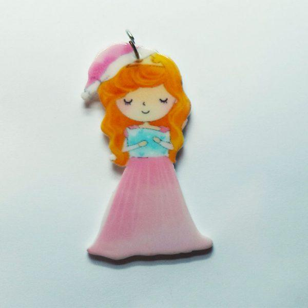 Extra függő Disney hercegnő Csipkerózsika fityegő charm