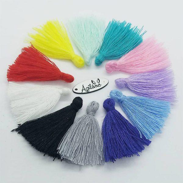 Extra függő selyem bojt charm fityegő színes rövid