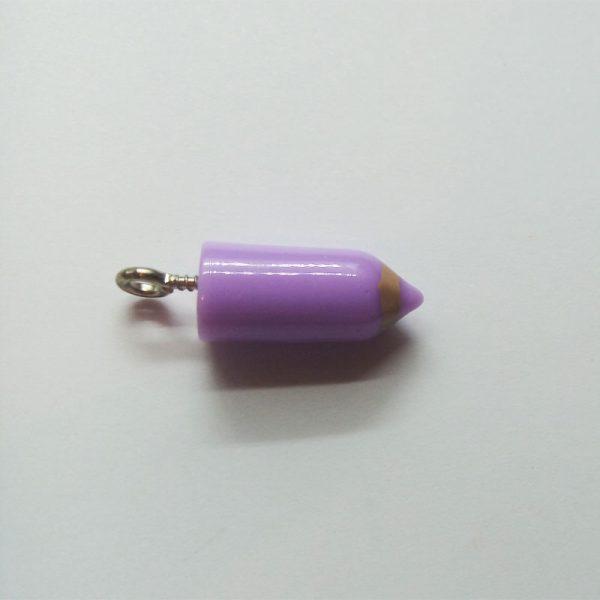 Extra függő charm fityegő színes ceruza lila