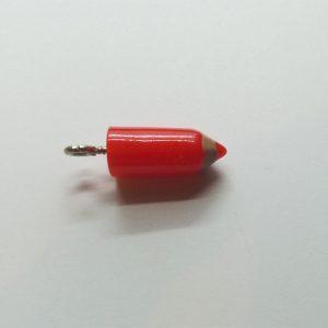 Extra függő charm fityegő színes ceruza piros