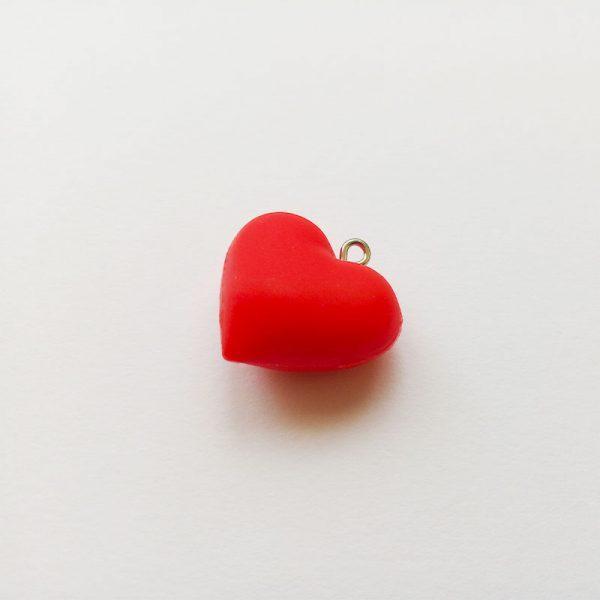 Extra függő charm fityegő nagy piros szív