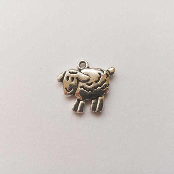 Fém függő charm fityegő ezüst színű állat bárány bari