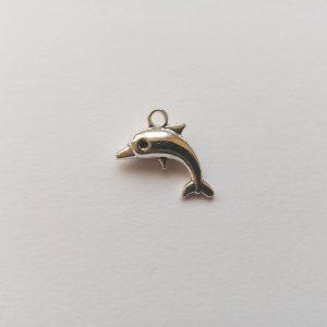 Fém függő charm fityegő ezüst színű állat delfin