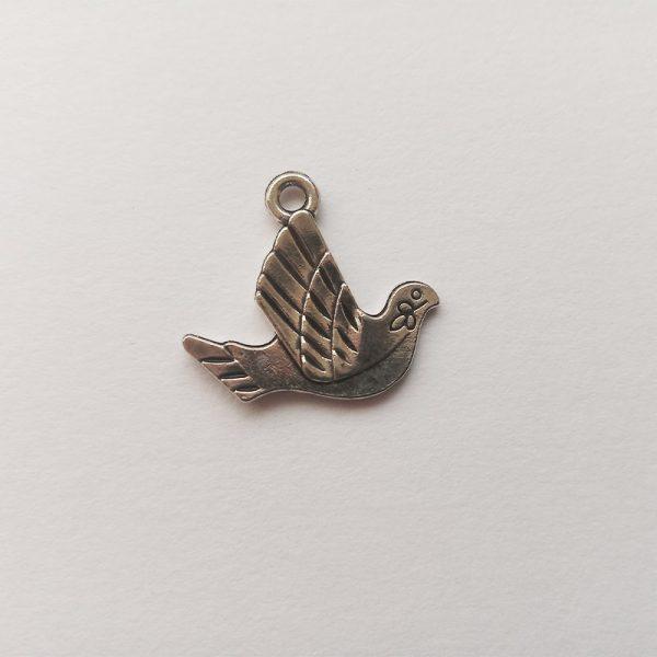 Fém függő charm fityegő ezüst színű állat madár pár