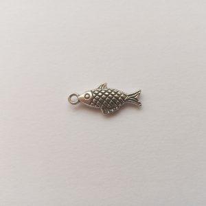 Fém függő charm fityegő ezüst színű állat hal horgászat
