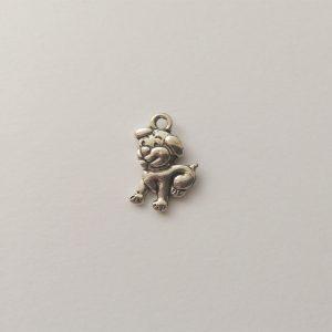 Fém függő ezüst színű kutya charm fityegő állat eb kutyus