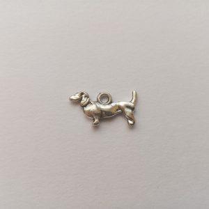 Fém függő állat kutya tacskó tacsi charm fityegő eb