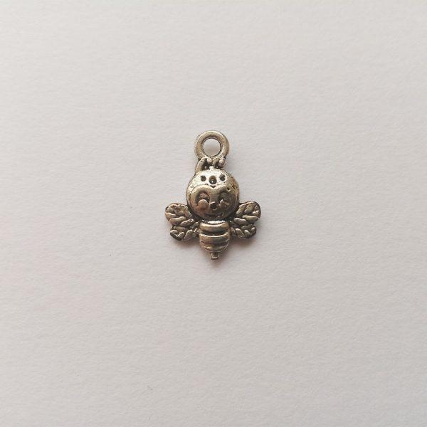 Fém függő charm fityegő ezüst színű állat méhecske
