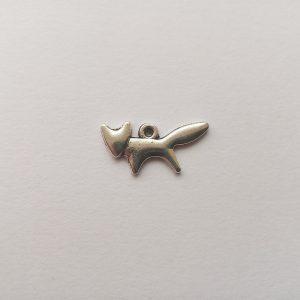 Fém függő charm fityegő ezüst színű állat róka vadászat