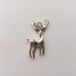 Fém függő állat szarvas agancs ezüst fém függő charm fityegő