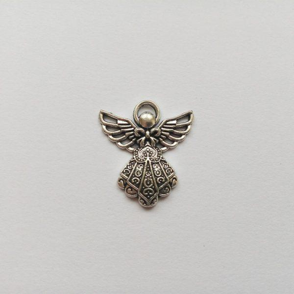 Fém függő charm fityegő ezüst színű angyal