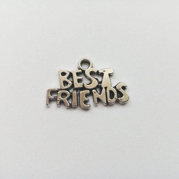 Fém függő ezüst színű best friends, legjobb barátok barátnők barát barátság charm fityegő