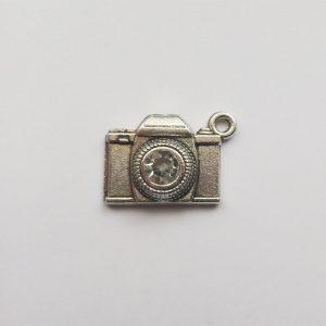 Fém függő charm fityegő ezüst színű fényképező fotó fotózás strasszos