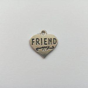 Fém függő ezüst színű best friends, legjobb barátok barátnők barát barátság charm fityegő bff