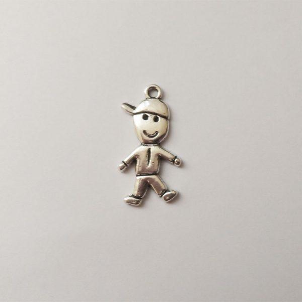 Fém függő charm fityegő ezüst fiú kisfiú gyerek iskola óvoda