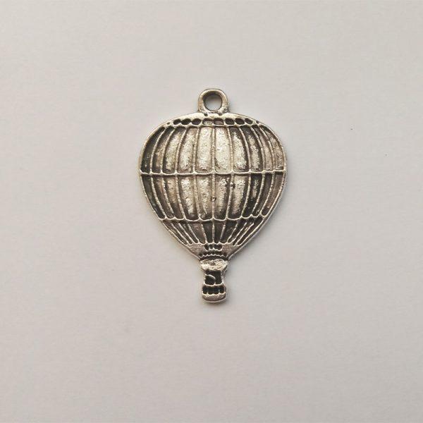 Fém függő ezüst színű repülő közlekedés jármű charm fityegő hőlégballon
