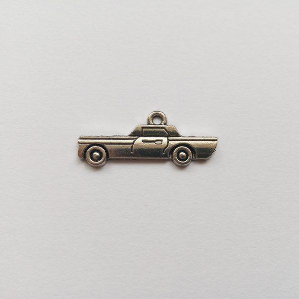 Fém függő charm fityegő ezüst színű kocsi autó cadillac