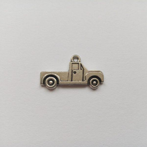 Fém függő charm fityegő ezüst színű kocsi autó platós