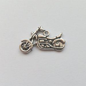 Fém függő ezüst színű motor harley davidson közlekedés jármű charm fityegő