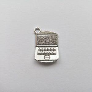Fém függő charm fityegő ezüst színű laptop számítógép