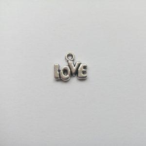 Fém függő charm fityegő love szerelem
