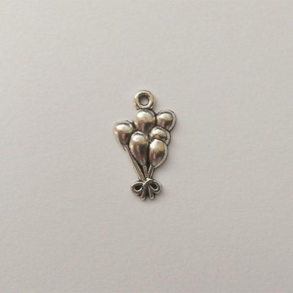 Fém függő fityegő charm ezüst színű mese lufi játék gyerek