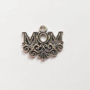 Fém függő charm fityegő ezüst Mom anya