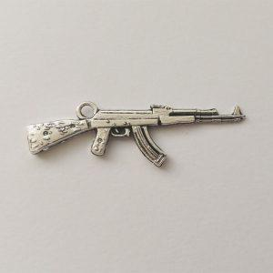 Fém függő charm fityegő katona puska gépfegyver fegyverek katonaság