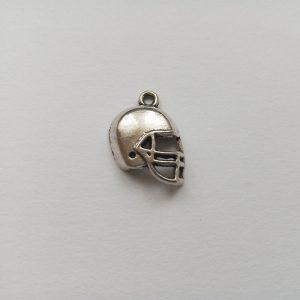 Fém függő charm fityegő ezüst színű sport amerikai foci sisak