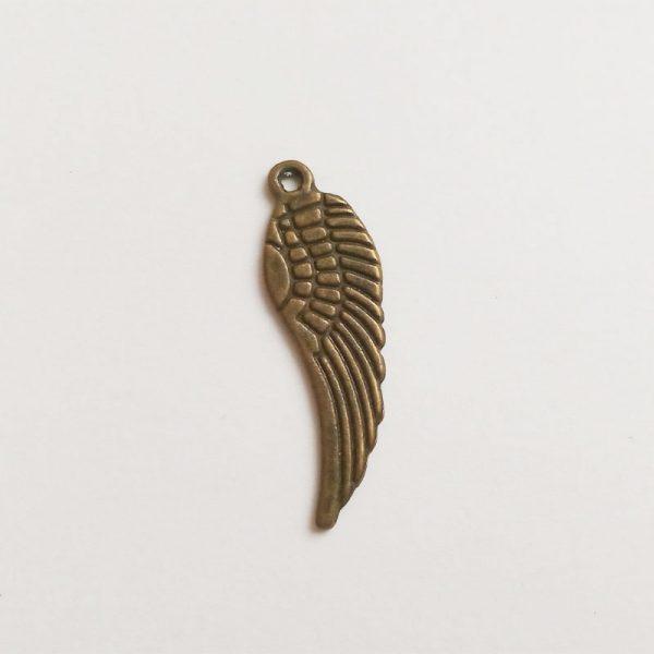 angyalszárny fém függő bronz charm fityegő