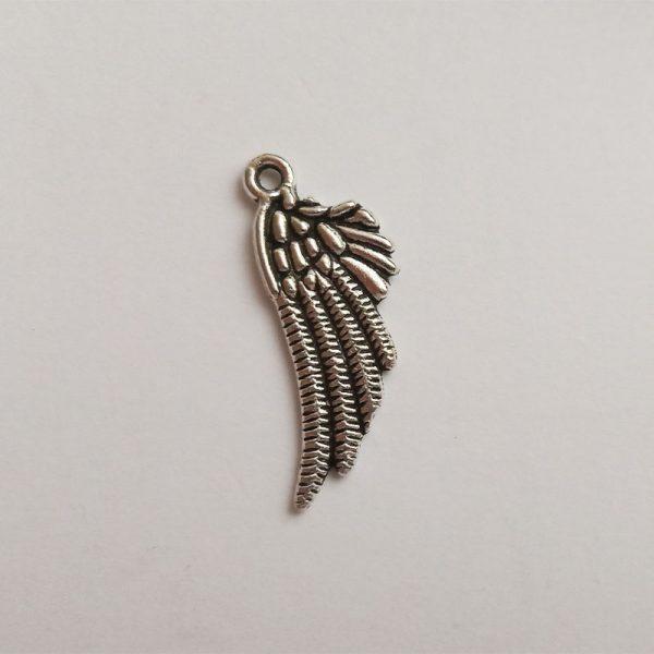 angyalszárny fém függő ezüst charm fityegő díszes