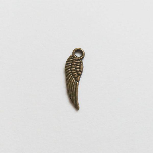 angyalszárny fém függő bronz charm fityegő kicsi