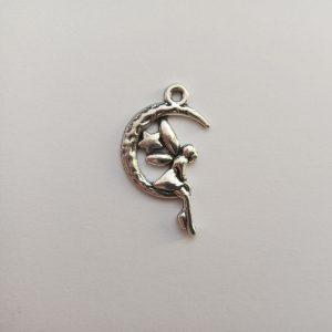 Fém függő fityegő charm ezüst színű mesebeli tündér charm