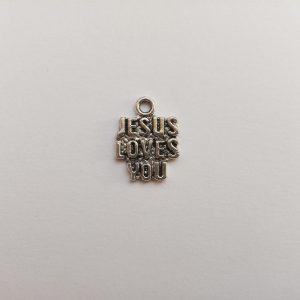 Fém függő charm fityegő vallás Jézus szeret