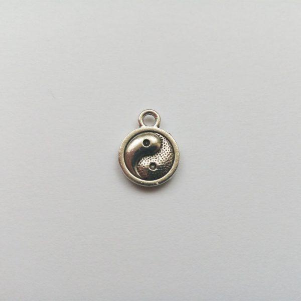 Fém függő charm fityegő yinyang jóga meditálás spirituális gyönngyel