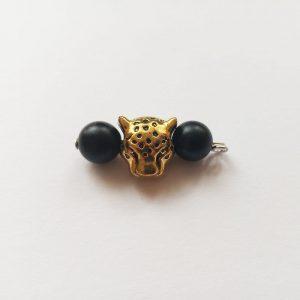 Jaguár állat arany fém charm függő fityegő ásványok